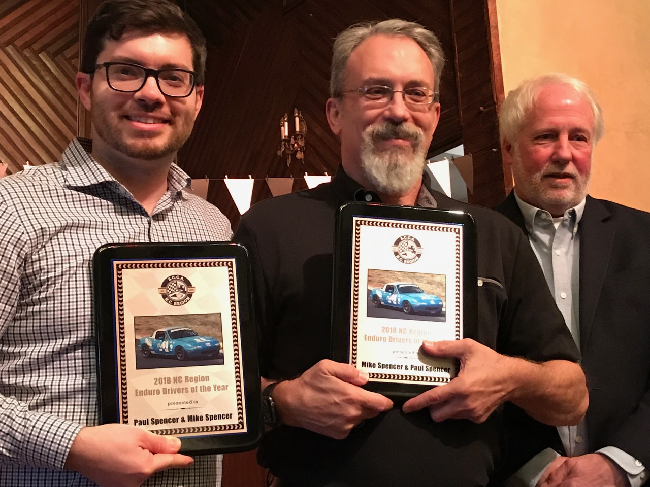 Paul & Mike Spencer - Enduro Drivers of the Year w/Sam